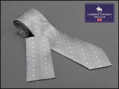 セミナロータイ ポケットチーフ付 白系 シルク100% 結婚式・披露宴 ドット柄 FA06 フォーマルネクタイ メール便可