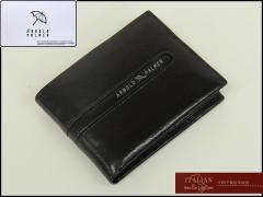 〓ARNOLD PALMER〓アーノルドパーマー◆牛革◆二つ折り財布/コインケース付◇黒◇イタリアンレザー使用 4AP3073