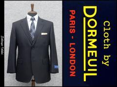 [DORMEUIL]ドーメル 秋冬物 シングル2釦ベーシックスーツ 濃紺縞  [BB体]メンズスーツ 英国生地