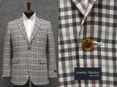 春夏物 [STANLEY BLACKER] スタンリーブラッカー ベーシック2釦シングルジャケット 格子 [AB体][BB体]