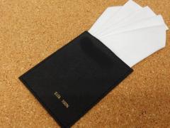 差込式ポケットチーフ 白 シルク100% ファイブピークス ワンタッチ メール便可