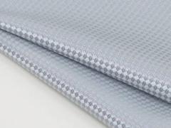 ◆日本製◆ポケットチーフ◇バスケット シルク100%◇ジャガード織◇シルバーグレー メール便可
