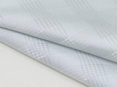 ◆日本製◆ポケットチーフ◇グレンチェック シルク100%◇ジャガード織◇シルバー メール便可