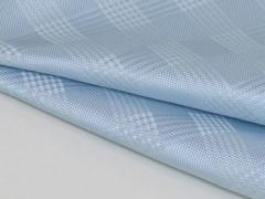 ◆日本製◆ポケットチーフ◇グレンチェック シルク100% ◇ジャガード織◇スカイブルー メール便可 C405