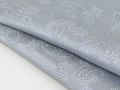 ◆日本製◆ポケットチーフ ◇ペイズリー シルク100% ◇ジャガード織◇シルバーグレー メール便可