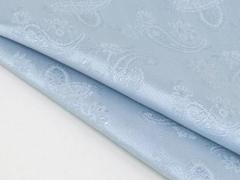 ◆日本製◆ポケットチーフ◇ペイズリー シルク100%◇ジャガード織◇スカイブルー メール便可