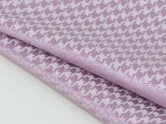 ◆日本製◆ポケットチーフ◇千鳥格子 シルク100%◇ジャガード織◇ピンク メール便可