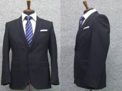 春夏物 2パンツスーツ スタイリッシュ2釦スーツ 紺 無地 背抜裏地 [Y体][A体][AB体][BB体] 就活スーツにも最適 メンズ スーツ