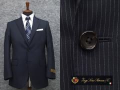 春夏物 [ロロピアーナ] ZELANDER DREAM  [A体][AB体] ベーシック2釦スーツ 紺系ストライプ LOR51 メンズ スーツ