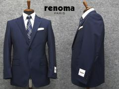 [renoma] レノマPARIS 春夏物 伊REDA社 Super110s生地使用 ベーシック2釦シングルスーツ 紺系ストライプ[AB体][BB体]