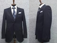 通年物 スタイリッシュ2釦シングルスーツ 紺系 無地 [YA体][A体][AB体] 就活 メンズスーツ