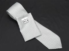 フォーマルネクタイ チーフ付 銀 角ドット 甲州織 ポリエステル100% 日本製 結婚式・披露宴 NK28 メール便選択可能