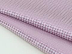 ◆日本製◆ポケットチーフ◇バスケット シルク100%◇ジャガード織◇ピンク メール便可