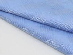 ◆日本製◆ポケットチーフ◇グレンチェック シルク100%◇ジャガード織◇サックスブルー メール便可 C406