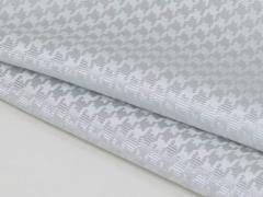 ◆日本製◆ポケットチーフ◇千鳥格子 シルク100%◇ジャガード織◇シルバー メール便可