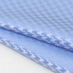 ◆日本製◆ポケットチーフ◇千鳥格子 シルク100%◇ジャガード織◇水色 メール便可