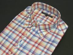 ■FIDATO■長袖ドレスシャツ■カラーチェック■ボタンダウン■ストレッチ■トルファン綿100%■ビジカジ