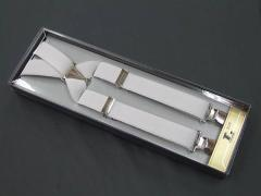 ◆礼装◆サスペンダー吊りバンド◇白◇Xタイプ◆メール便可 ACC1-2