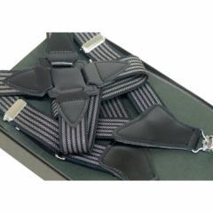 〓ホルスター型サスペンダー〓日本製◆黒×コール縞◇ガンホルスタータイプ GUN2