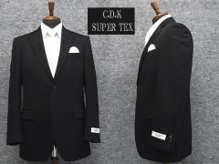 [CDK SuperTEX] 通年物 シングル2釦ベーシックフォーマルスーツ [YA体][A体][AB体][BB体] 1タック 超黒 アジャスター付礼服