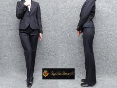 レディーススーツ イタリー生地 ロロピアーナ 1ボタン 濃紺 毛100% [7号 9号 11号 13号] 通年対応 パンツスーツ 就活