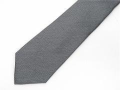 京丹後産生地 日本縫製 ネクタイ グレー ヘリンボーン柄 シルク麻 小ロット生産品 URN13