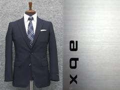 abx 春夏〜通年物 紺/小紋 スタイリッシュ2釦スーツ [Y体][A体] 1タックパンツ メンズスーツ