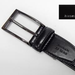 〓hiromichi nakano〓メンズベルト◆牛革◆黒◇ヒロミチナカノ◇ロングタイプ 51L201-10BK