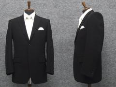 礼服 シングル 通年物 超黒 DEER ベーシックフォーマルスーツ 2釦 ワンタック [A体][AB体][BB体][E体] DR5000S