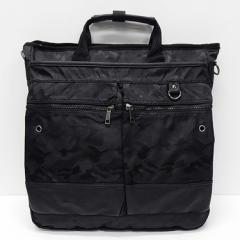 ◆ビジネスバッグ◆3WAYバッグ◆手提げバッグ◆ショルダーバッグ◆リュックサック◆黒系◆迷彩柄 bg137-BK