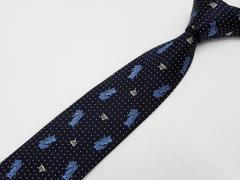 京都西陣織 星座ネクタイ 乙女座(おとめ) シルク100% 濃藍 メール便OK NJ-SP06