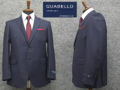 秋冬物 イタリー製生地 [GUABELLO] グアベロ Super120s 藍紺 ベーシック2釦シングルスーツ [BB体] メンズスーツ WTG77362-88