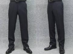 クールビズ 春夏物 スラックス★アダルトノータックパンツ ☆黒紺系☆ 洗濯可 76cm〜94cm T6454A