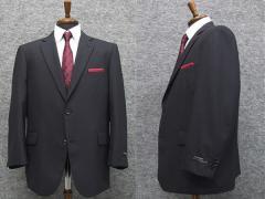 秋冬物 ビッグサイズ 2パンツ ベーシック2釦シングルスーツ 紺系ストライプ [E体] メンズスーツ SE48123-E