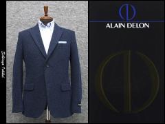 [ALAIN DELON]アランドロン 秋冬物ニット素材 青紺系ヘリンボーン シングル2釦ベーシックジャケット[A体][AB体][BB体] AD5322-85