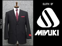 春夏物 [MIYUKI] ミユキ ベーシック2釦シングルスーツ 濃紺系ストライプ [AB体] MK101-1