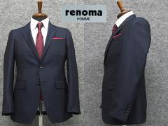 春夏物 [renoma] レノマ スタイリッシュ2釦シングルスーツ 紺系ストライプ [A体][AB体][BB体] メンズ ブランドスーツ RM8230-88