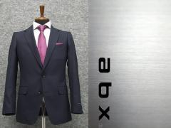abx 春夏〜通年物 紺/小格子 スタイリッシュ2釦スーツ [Y体][A体] 1タックパンツ メンズスーツ abx8221-88