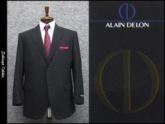 [ALAIN DELON]アランドロン 春夏物 super100s シングル2釦ベーシックスーツ [E体] 黒ストライプ AD70235
