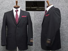 伊カノニコ社Super110s生地使用 ベーシック2釦シングルスーツ 濃紺縞 日本製 [AB体] メンズスーツ CAN6263
