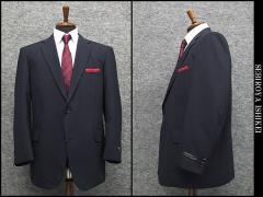 春夏物 ビッグサイズ 2パンツ ベーシック2釦シングルスーツ 紺系ストライプ [E体] メンズスーツ SE58107-E