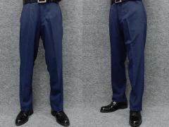 スラックス ノータック 春夏 ビジネスパンツ 紺/マイクロ千鳥 ウォッシャブル 76cm-105cm OS1784-1