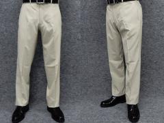 スラックス ノータック 春夏 ビジネスパンツ ベージュ/マイクロ千鳥 ウォッシャブル 76cm-105cm OS1784-3