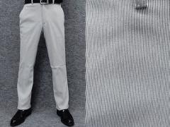 ★すっきりノータック のびのび素材+ウエスト スラックス 春夏秋 グレー系/縞 ビジカジパンツ 76cm-105cm OS3810-1