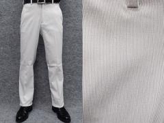★すっきりノータック のびのび素材+ウエスト スラックス 春夏秋 グレー系/縞 ビジカジパンツ 76cm-105cm OS3810-3