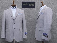 春夏物 [STANLEY BLACKER] スタンリーブラッカー 3釦段返りシングルジャケット 千鳥風格子 [AB体][BB体] SBK80505-85