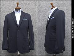 通年物 一枚仕立て ニットジャケット 紺系 スタイリッシュ2釦シングル [A体][AB体]兼用 WZ1614-62