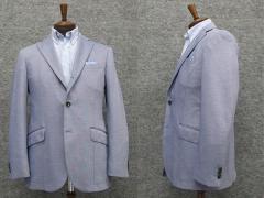 春夏物 ニットジャケット 薄ブルー系 ベーシック段返り3釦シングル [AB体]用 アダルトジャケット WZ1753-61