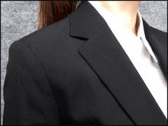 ☆訳あり ジャケット単品 2ボタン 黒 [5号〜19号] 通年対応 セットアップ可能 レディーススーツ 就活 リクルート/NS-JK517