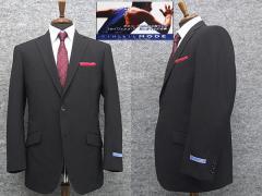 アスリートスーツ 2パンツスーツ 春夏物 セミスタイリッシュスーツ 黒縞 シングル2ボタン [AB体][BB体] メンズスーツ ATH258-09